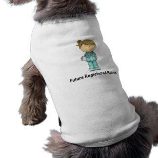future registered nurse sleeveless dog shirt