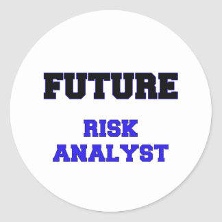 Future Risk Analyst Classic Round Sticker