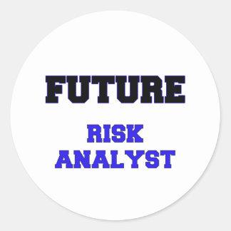 Future Risk Analyst Round Sticker