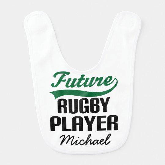 Future Rugby Player Personalised Baby Bib