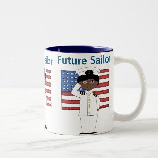 Future Sailor Boy African American Coffee Mug
