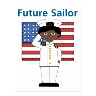 Future Sailor Boy African American Postcard