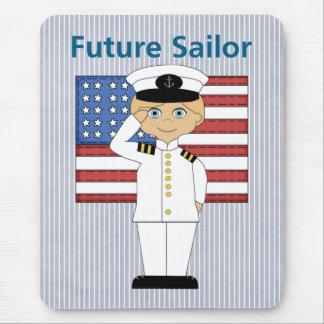 Future Sailor Boy Blonde Mouse Pad