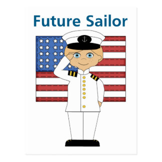 Future Sailor Boy Blonde Postcard