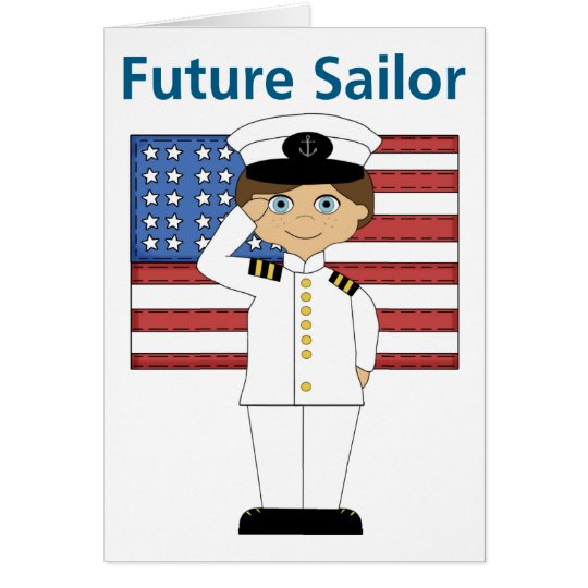 Future Sailor Boy Dark Hair Card