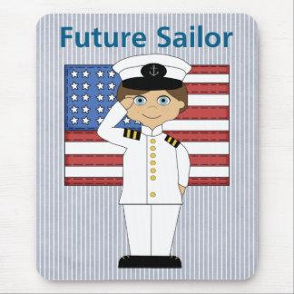 Future Sailor Boy Dark Hair Mouse Pad
