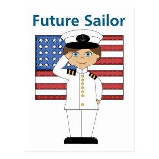 Future Sailor Boy Dark Hair Postcard