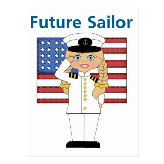 Future Sailor Girl Blonde Postcard