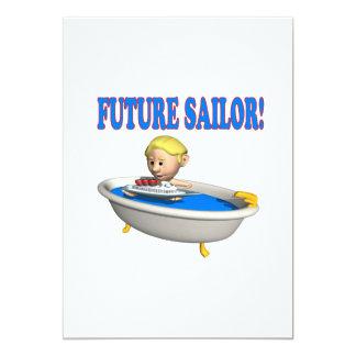 Future Sailor 13 Cm X 18 Cm Invitation Card