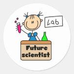 Future Scientist Round Sticker