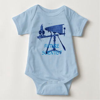 FUTURE SCIENTISTS 18TH CENTURY MICROSCOPE BLUE BABY BODYSUIT