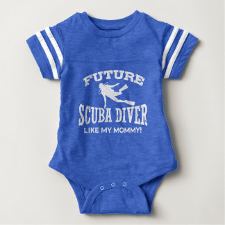 Future Scuba Diver Like My Mommy Baby Bodysuit