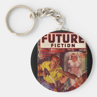 Future (series 1) v01 n01 (1939-11.Columbia)_Pulp Basic Round Button Key Ring