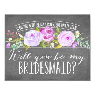 Future Sister | Bridesmaid 11 Cm X 14 Cm Invitation Card