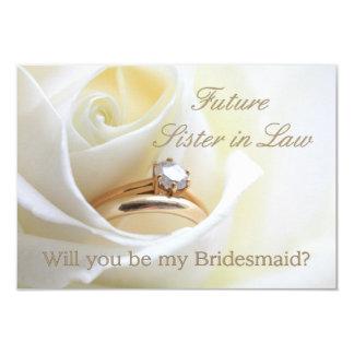 Future Sister in Law Please be Bridesmaid 9 Cm X 13 Cm Invitation Card