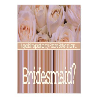 Future Sister in Law Please be Bridesmaid Magnetic Invitations