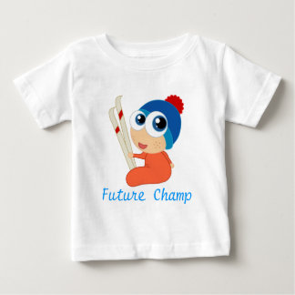 Future Ski Champ Baby Tee Shirt