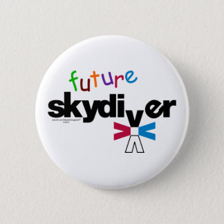 Future Skydiver 6 Cm Round Badge