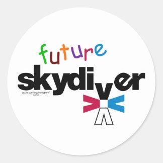 Future Skydiver Classic Round Sticker