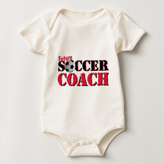 Future Soccer Coach (red) Baby Bodysuit