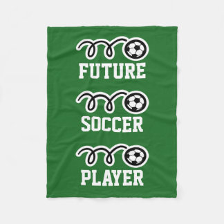 Future soccer player fleece blanket for kids