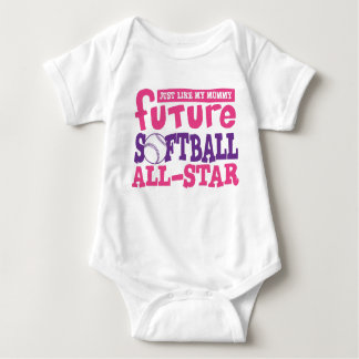 Future Softball All Star-Mommy Baby Bodysuit