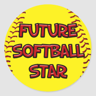 Future Softball Star Classic Round Sticker