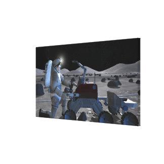 Future space exploration missions 10 canvas print