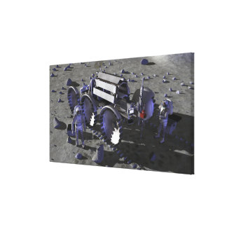 Future space exploration missions 10 stretched canvas prints