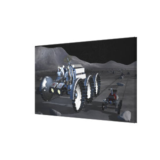 Future space exploration missions 11 stretched canvas print