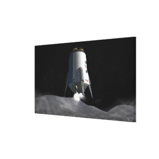 Future space exploration missions 12 canvas print