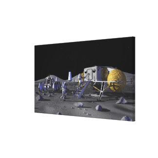 Future space exploration missions 13 canvas print