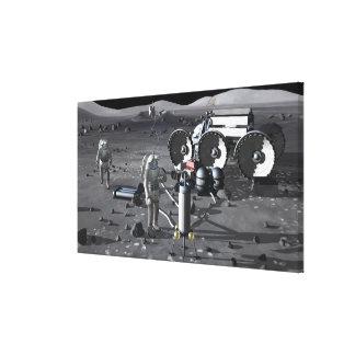 Future space exploration missions 2 canvas print