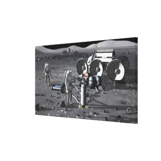 Future space exploration missions 2 stretched canvas print