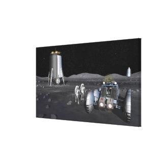 Future space exploration missions 3 canvas print