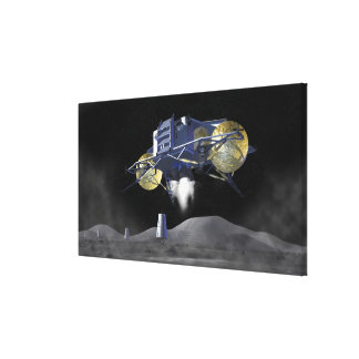 Future space exploration missions 4 stretched canvas prints