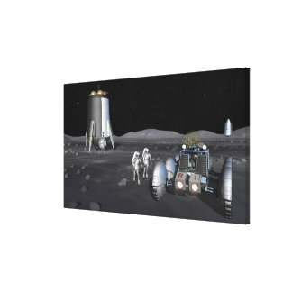 Future space exploration missions 6 canvas prints