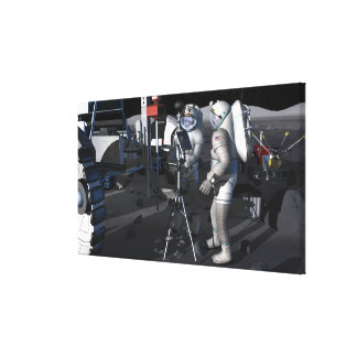 Future space exploration missions 8 stretched canvas print