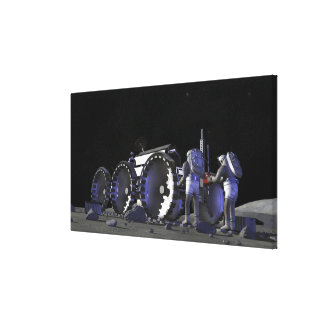 Future space exploration missions 9 canvas print