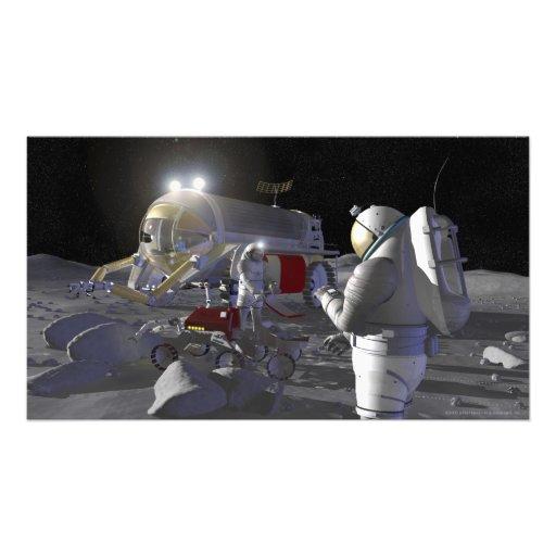 Future space exploration missions photographic print