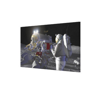 Future space exploration missions stretched canvas prints