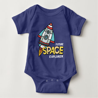 Future Space Explorer Baby Bodysuit