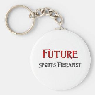 Future Sports Therapist Basic Round Button Key Ring