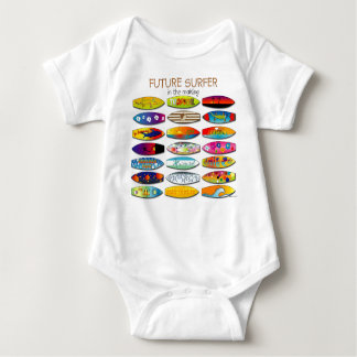 FUTURE SURFER IN THE MAKING BABY BODYSUIT