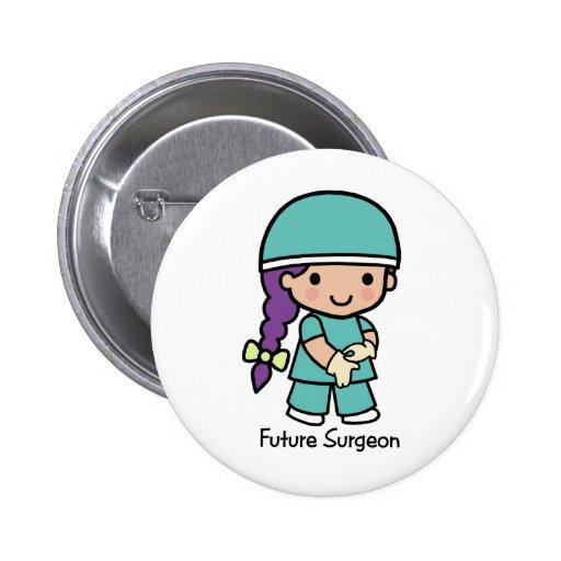 Future Surgeon - Girl Pinback Button