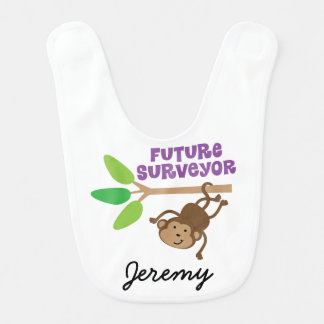 Future Surveyor Personalized Baby Bib