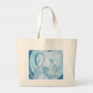 Future technology 3D app concept Canvas Bag