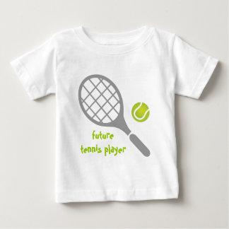 Future tennis player, tennis racket and ball baby T-Shirt