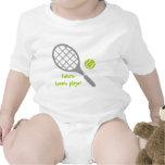 Future tennis player, tennis racket and ball t-shirts