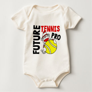 Future Tennis Pro Sock Monkey Baby Bodysuit